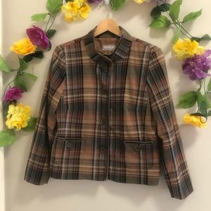 TanJay Petites Plaid Jacket/ Blazer w/ Pockets